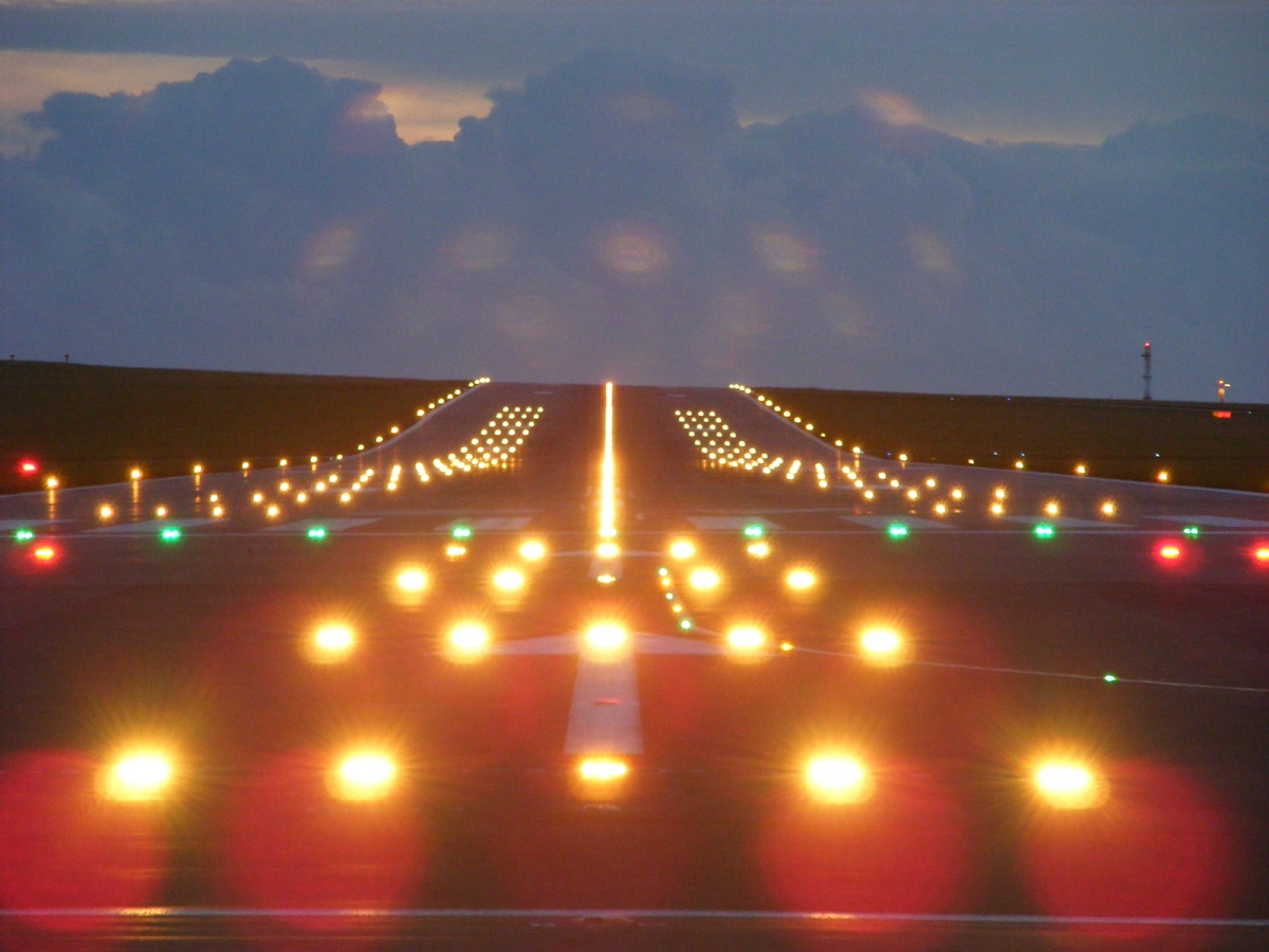 Airport Runway At Night Wallpaper 2 Grimaldi707